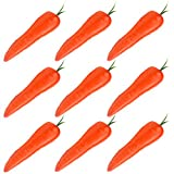 Simla Decor 9 pcs/pack Artificial Carrot Decorative Fake Vegetable Table Accessories(Orange)