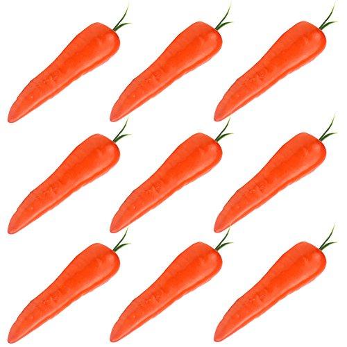 Simla Decor 9 pcs/pack Artificial Carrot Decorative Fake Vegetable Table Accessories(Orange) by Simla Decor