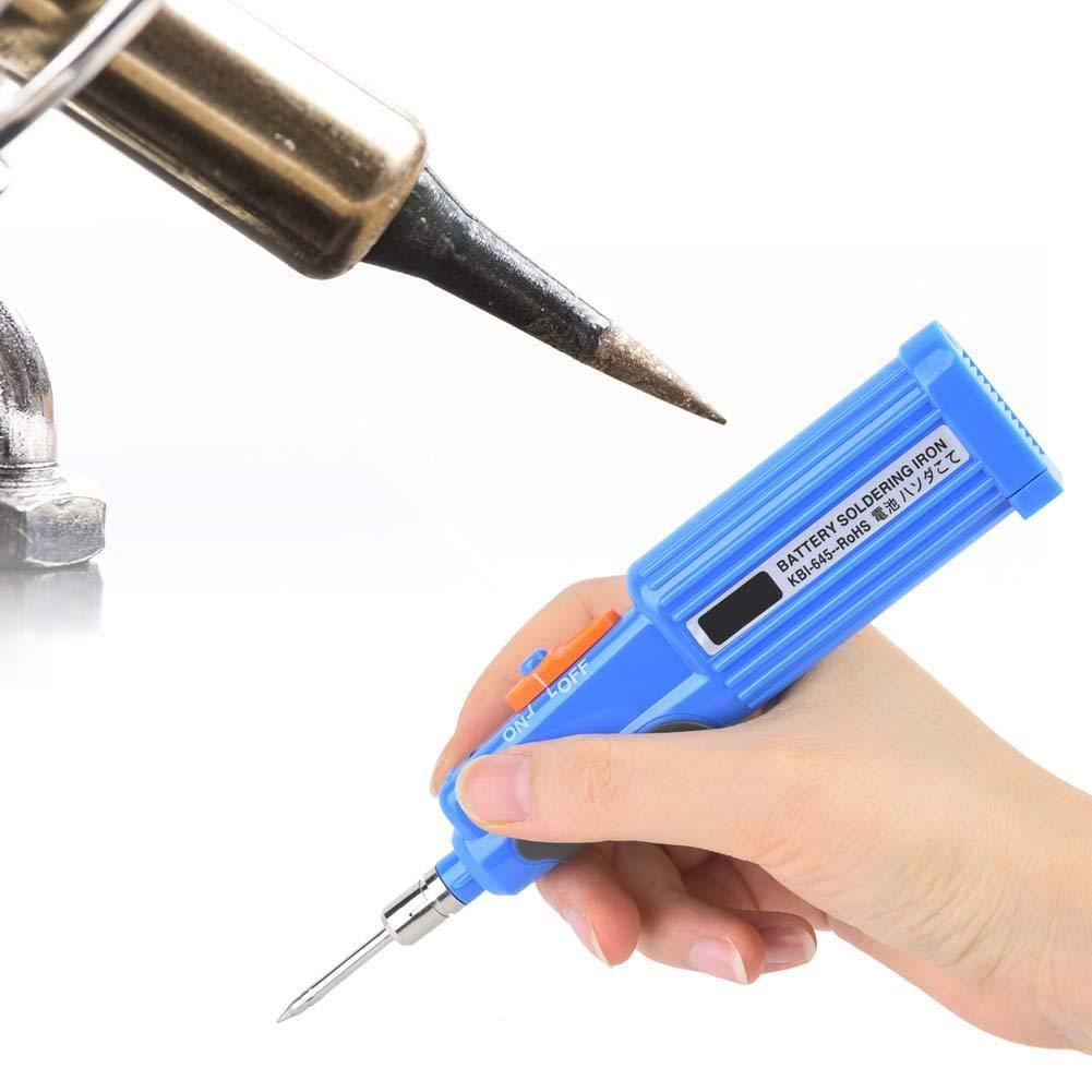ligero KBI-645 Soldador con bater/ía Soldador inal/ámbrico port/átil recargable de 6W para soldadura de placa de circuito Soldador