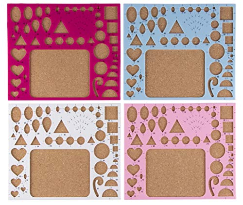 - Quilling Boards - 4-Pack Paper Quilling Template Board Set, Quilling Moulds with Scale, Paper Crafting Essential for Quillers, 4 Assorted Colors