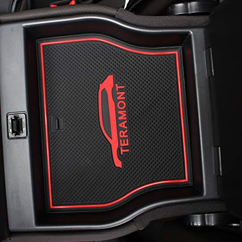 Salusy Custom fit Non-Slip Center Console Mats Door Liner Accessories Cup Mats Compatible with Volkswagen Atlas 2018 2019 by Salusy (Image #5)