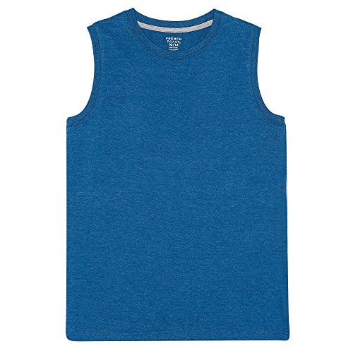 French Toast Boys'  Sleeveless Solid Muscle Tee, Rush Of Blue Heather, XL (14/16),Big Boys ()