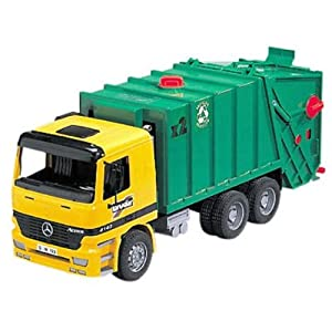 Amazon Com Bruder Mb Garbage Truck Colors May Vary