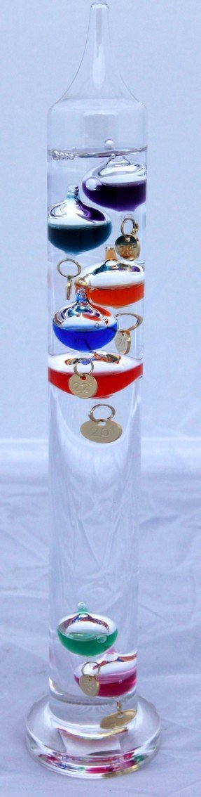 Thorness 12'' high free standing galileo thermometer