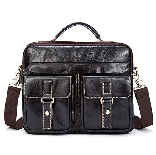 Vintage Briefcases Bags Design Capacity 15 Leather 14 Men's Shoulder Sucastle Large Messenger znxBI0Ywq