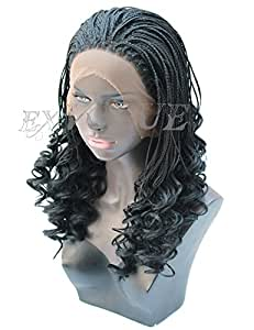 Amazon.com : Exvogue Wavy Ends Micro Million Braided Wig ...