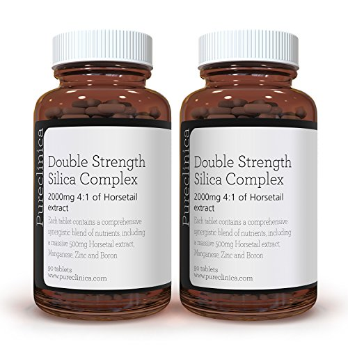Double Strength Silica Complex – 6 Month Supply! (500mg Horsetail Extract x 180 Tablets(2 Bottles of 90)) SKU: SIL90x2