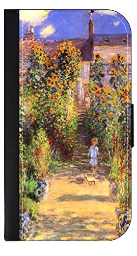 (Artist Claude Monet's Pathway in Monet's Garden - Wallet Style Flip Phone Case Compatible with s3/s4/s5/s6/s6edge/s7/s7edge/s8/s8Plus - Select Your Compatible Phone Model)