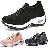 Metyere Women's fashion walking shoes-breathable Mesh sneaker,Comfortable wedge platform shoes Women Walking Shoes Super…