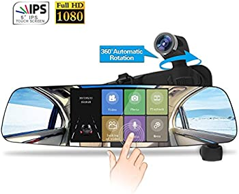 Spedal 1080P HD 5.0 Touch Screen Mirror Dashboard Camera