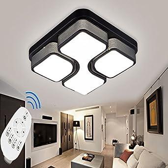 ETiME 43cm Design LED Deckenlampe dimmbar mit Fernbedienung Led ...