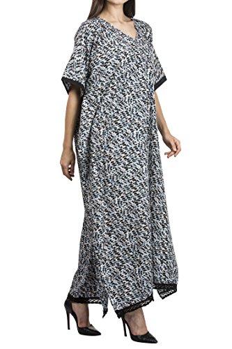 tailles Robe Grandes Noir Femme Tunique Lavish multicolore Miss Multicolore 0wzBq