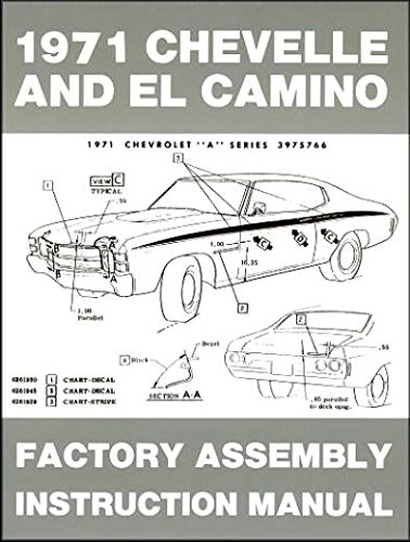 (1971 CHEVELLE & EL CAMINO FACTORY ASSEMBLY INSTRUCTION MANUAL Also Includes SS, Malibu, Monte Carlo, Greenbrier, Nomad, Concours & GMC Sprint )