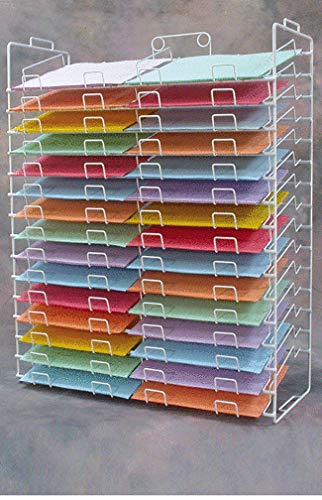 Wire Display Rack New 30 Slot Scrapbook Paper 12'' X 12'' Inch