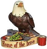 "Jim Shore Heartwood Creek Mini Patriotic Eagle Stone Resin Figurine, 3.75"""