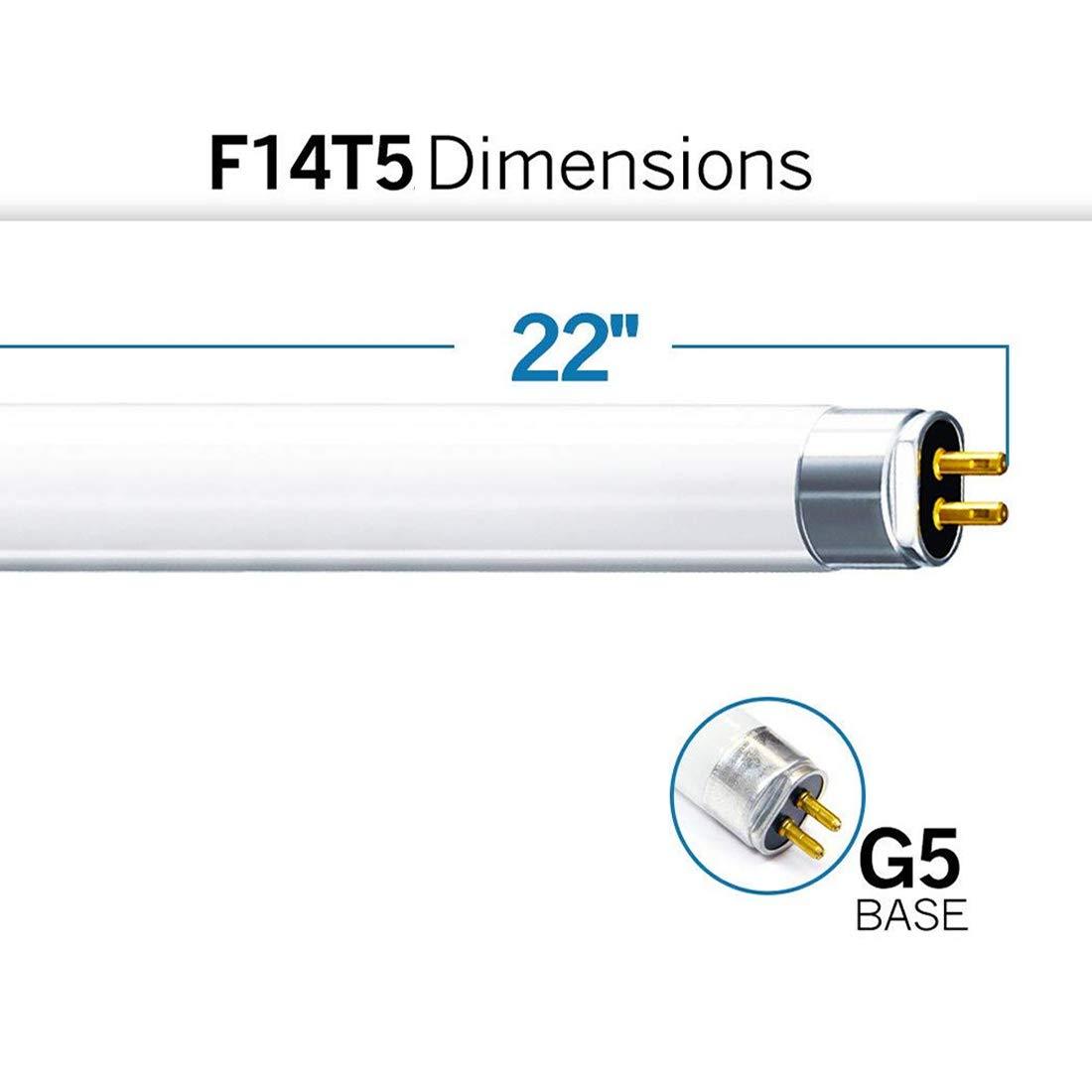 Osram 14w T5 High Efficiency 840 Cool White Fluorescent 549mm Tube 4000k HE 12 Pack FH1840