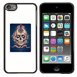 """Be-Star Único Patrón Plástico Duro Fundas Cover Cubre Hard Case Cover Para iPod Touch 6 ( Blanco Azul Rosa de Oro cartel Scary"""" )"""