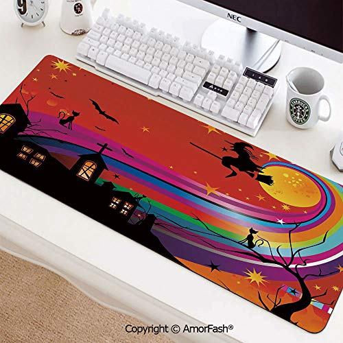 Customized Gaming Mouse Pad with Stitched Edges,Non-Slip Rubber,35.5