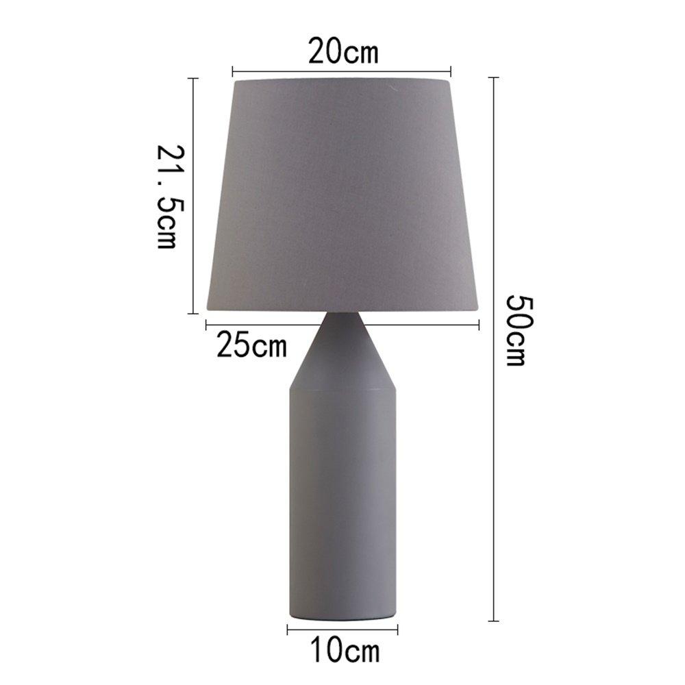 XiuXiu Moderne minimalistische minimalistische minimalistische Schmiedeeisen Stoff grau Tischlampe Nachttischlampe Wohnzimmer Studie Büro Schlafzimmer Dekoration Tischlampe (Farbe   Button switch) B07HMW47BQ | Großhandel  67f4bb