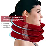Best Inflatable Cervical Neck Traction Device - Doctors Recommended Cervical Traction Unit, Detachable Safety Release Tubes Air Inflation