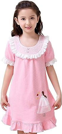Camisones Niñas Algodón Pijamas para Niños Manga Corta para Niñas ...