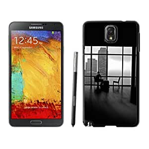Beautiful Unique Designed Samsung Galaxy Note 3 N900A N900V N900P N900T Phone Case With Man Alone Apartment Skyscrapers View_Black Phone Case