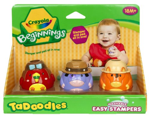 Crayola TaDoodles Washable Stampers Parrot