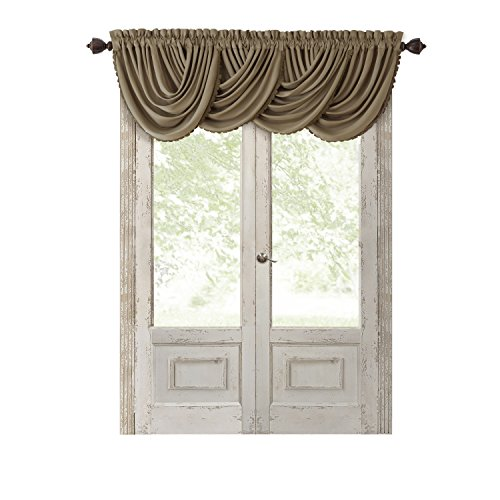 Elrene Home Fashions Solid Luxury Rod Pocket Window Curtain Valance, 52