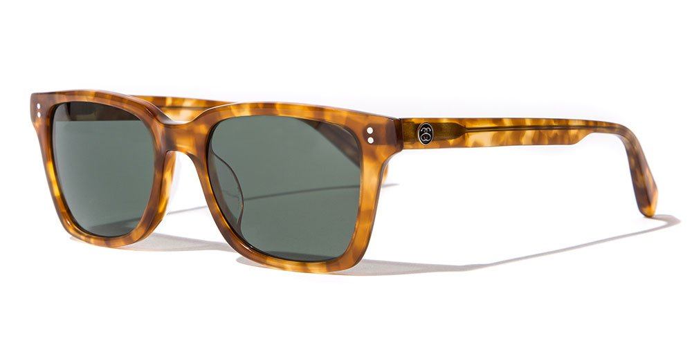 Stussy Angelo Sunglasses Tortoise / Green Glass by Stussy Eyegear