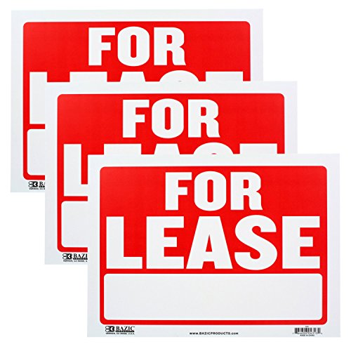 Bazic Small Inches Lease Sign
