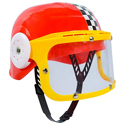 Childrens Plastic Racing Stock Car Driver Costume Helmet RED