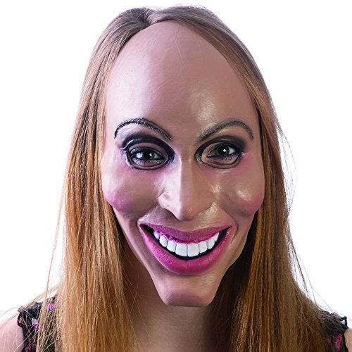 HMS Latex Rubber Creepy Female Eradicate Mask- One Size, 8.5