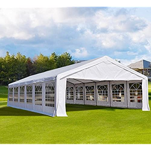 Quictent 13x26 16x32 20x26 20x32 20x40 Heavy Duty Outdoor Gazebo Party Wedding Tent Canopy Carport Shelter With Sideawalls20x40 White