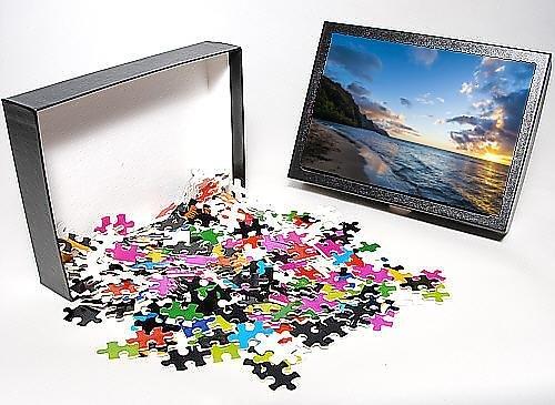 Photo Jigsaw Puzzle of Sunset on the Napali coast, Kauai, Hawaii,United States of America, Pacific