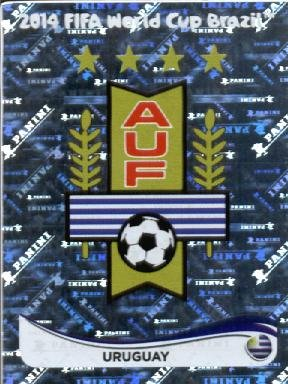 2014 Panini World Cup Soccer Sticker #260 Uruguay Logo Mint (Mint Uruguay)