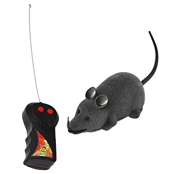 Delicacydex Ratón de Ratón de Control Remoto de Juguete para Gato Ratón de Rotación Inalámbrica Divertido Ratón Ratón Electrónico Juguete de Juguete Tricky ...