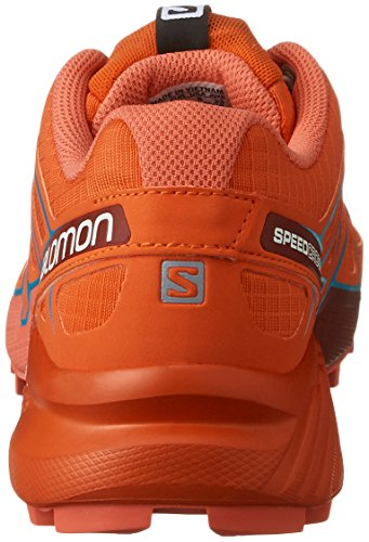 Salomon L39183400, Zapatillas de Trail Running para Mujer Rojo (Tomato Red /     Coral Punch /     Blue Jay)