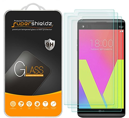 (3 Pack) Supershieldz for LG V20 Tempered Glass Screen Protector Anti Scratch, Bubble Free (Best Lg V20 Glass Screen Protector)