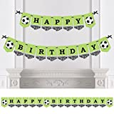 Big Dot of Happiness GOAAAL! - Soccer - Birthday Party Bunting Banner - Sports Party Decorations - Happy Birthday