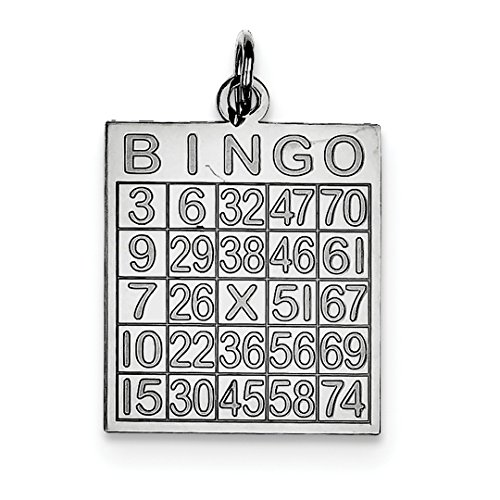 ing Silver Bingo Card Pendant Charm Necklace Gambling Fine Jewelry Ideal Gifts For Women Gift Set From Heart ()