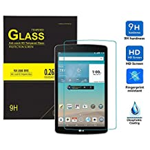 LG G Pad III/3 8.0 Screen Protector, IVSO Ultra-thin 9H Hardness Highest Quality HD Clear& Premium Tempered Glass Screen Protector for LG G Pad III/3 8.0 Tablet(1pcs)