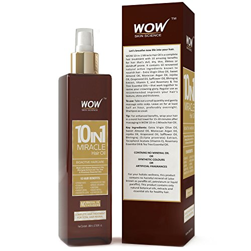 WOW 10-in-1 Active Miracle Hair Oil, 200ml