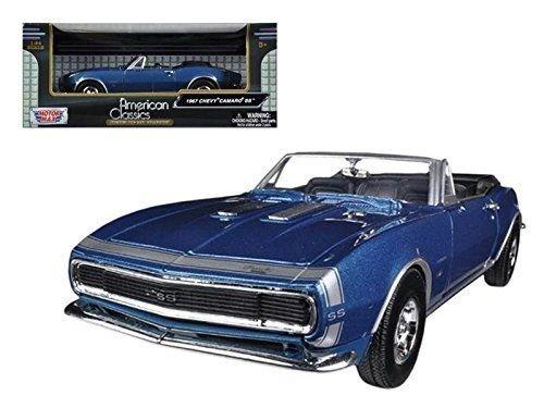Motormax 73301 1967 Chevrolet Camaro SS Convertible Blue 1/24 Diecast Car Model ()