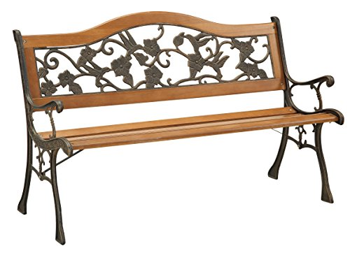 Furniture of America Dolce Outdoor Bench, Black (Pier 1 Outdoor Furniture Sale)