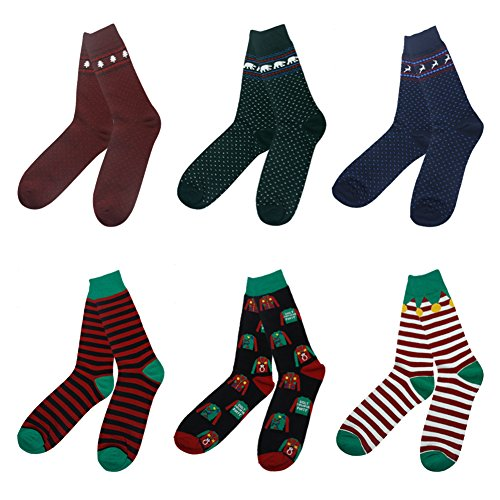 Funny Socks, Gmall Unisex Novelty Christmas Cartoon Holiday Party Colorful Dress Crew Socks