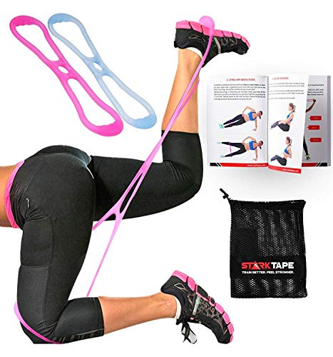 Starktape Booty Bands Resistance Belt System | Fitness Band Set, Glute Exercise, Loop Hip Bands | Brazilian Butt Lift and Muscles Booty Workout | Legs Women Training