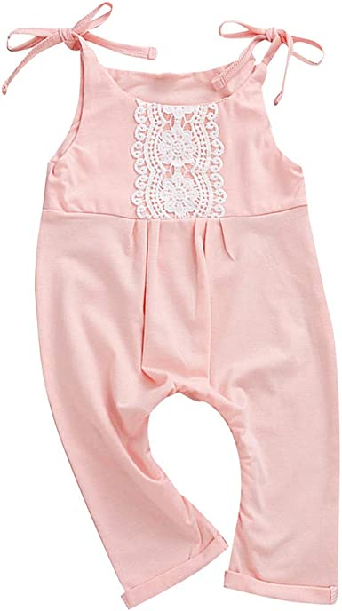 American Eagle Baby Boys Girls Jumpsuit Overall Romper Bodysuit Summer Clothes Pink