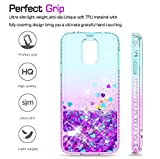 Galaxy S5 Case, S5 Glitter Case with Tempered Glass