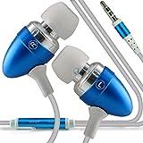 (Baby Blue) Acer Liquid Jade Z Aluminium In Earphones/Headphones 3.5mm Jack With Microphone ONX3®