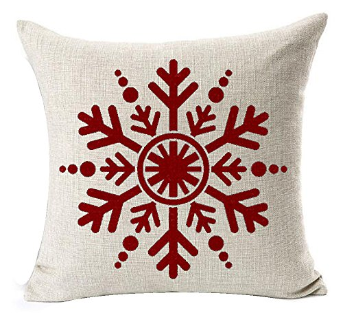Holiday Red Snowflake - 1